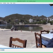 At lunch on Patmos